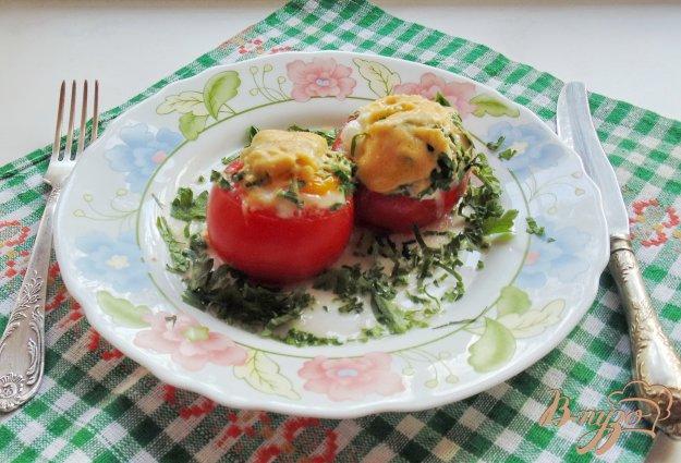 фото рецепта: Яичница в помидоре