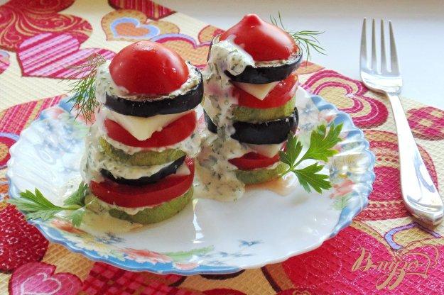 фото рецепта: Овощные башенки с моцареллой
