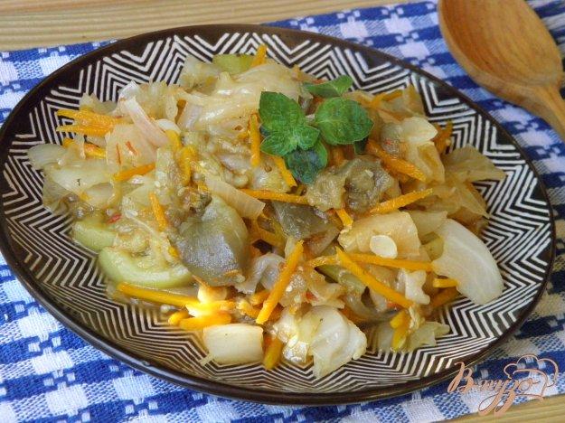 фото рецепта: Овощное рагу с кабачком и баклажаном