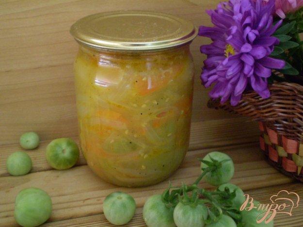 фото рецепта: Консервация зеленых помидоров