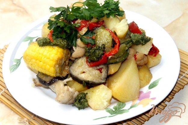 фото рецепта: Запеченные летные овощи в рукаве