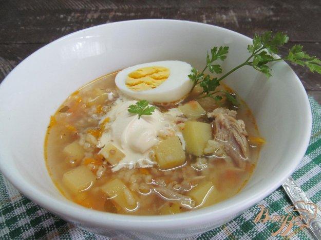 фото рецепта: Овощной суп с рисом и щавелем