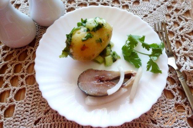 фото рецепта: Молодая картошка с зеленью в микроволновке