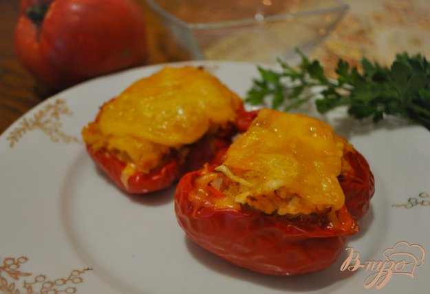 Фаршированные половинки перцев пошаговый рецепт с фото