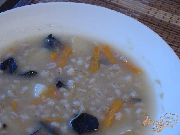 фото рецепта: Перловый суп с грибами