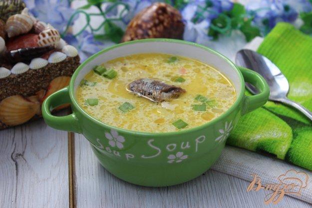фото рецепта: Суп из рыбных консервов со сметаной