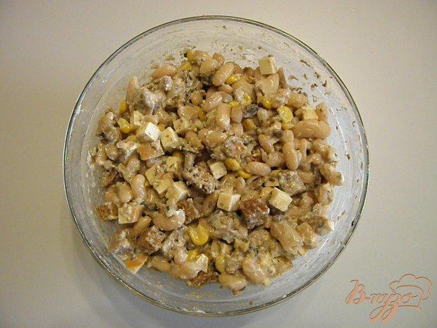 Салат из фасоли с сухариками рецепт очень вкусный