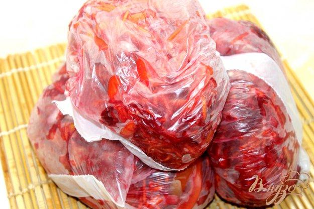 фото рецепта: Заготовка из молодых овощей на борщ