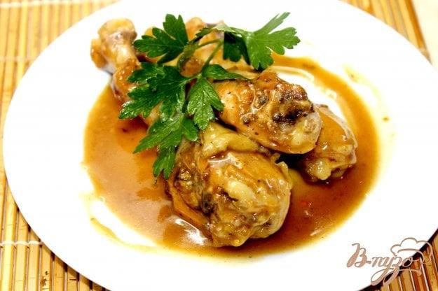 фото рецепта: Куриные ножки в медово - горчичном соусе