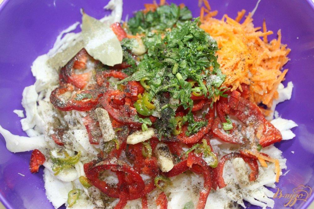 рецепт капусты с перцем болгарским
