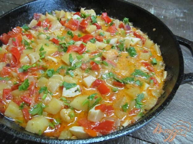 фото рецепта: Овощное рагу с патиссоном