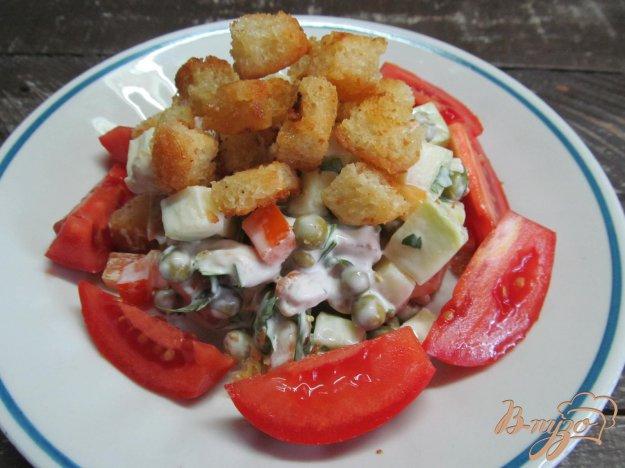 фото рецепта: Салат с маринованным кабачком