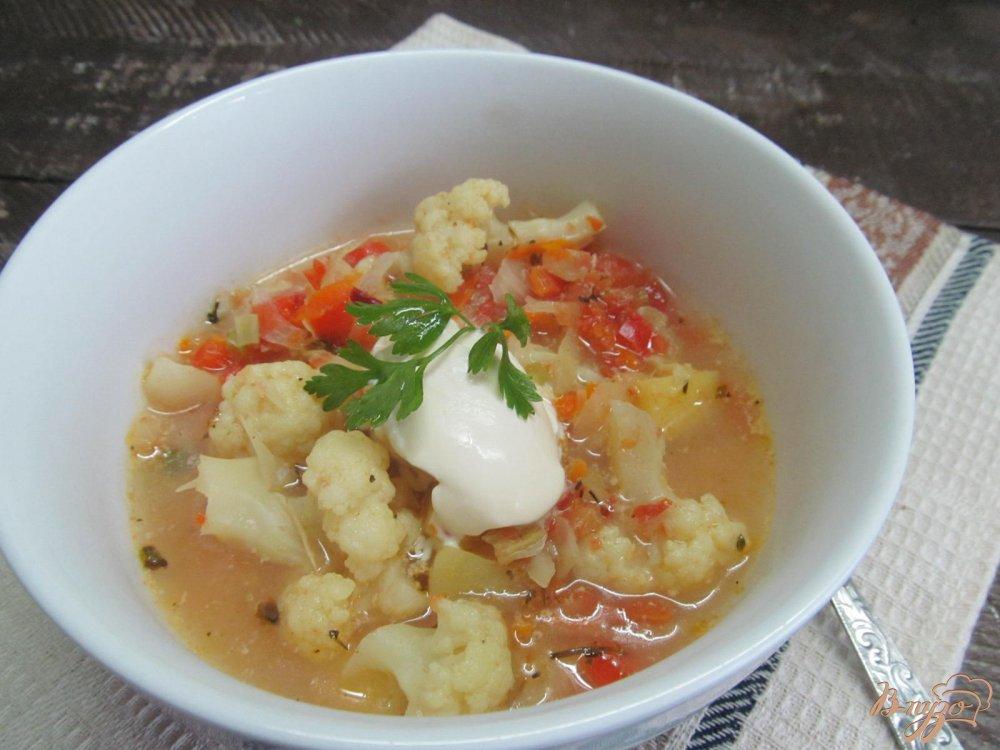 рецепт овощного супа с цветной капустой