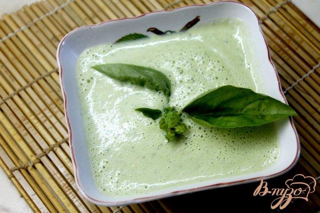 фото рецепта: Сливочный крем - суп из кабачка с баклажаном