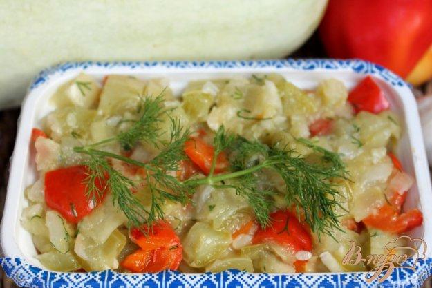 фото рецепта: Зимняя заготовка из тушеных кабачков и перца