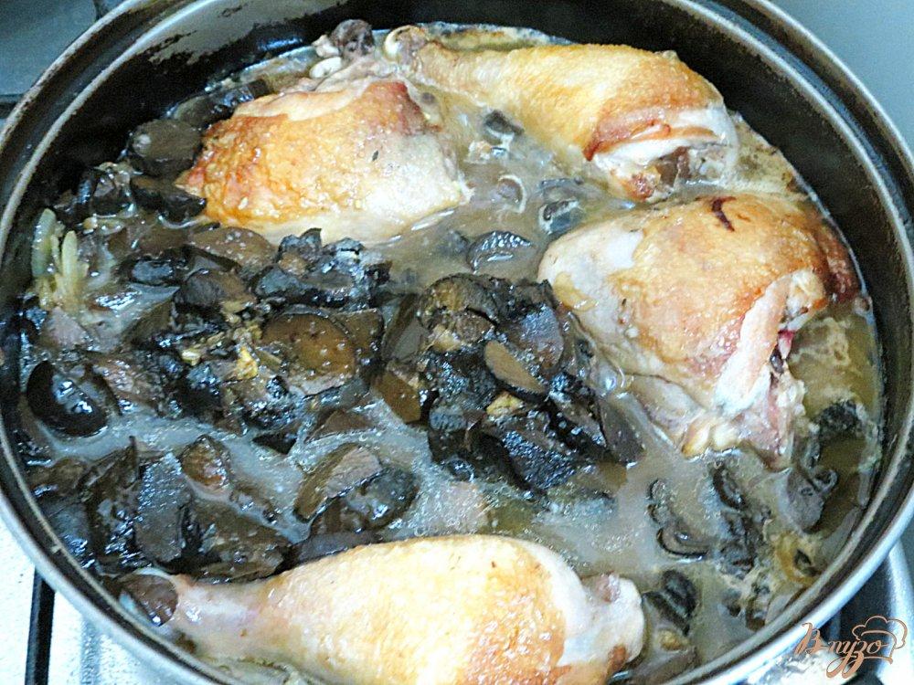 Грибами в сметанном соусе рецепт