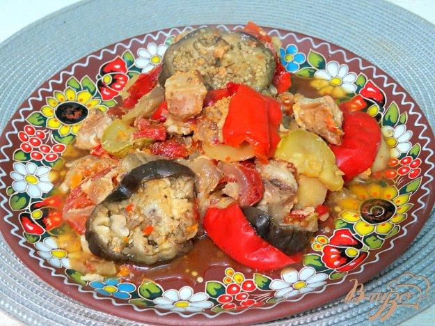 фото рецепта: Мясо тушёное с овощами