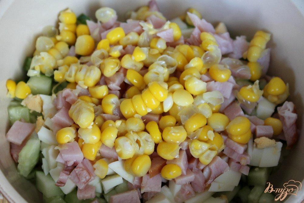 Салат в домашних условиях с кукурузой 992