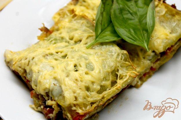 фото рецепта: Домашняя лазанья с куриным мясом и помидорами