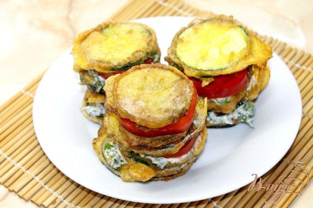 фото рецепта: Закуска из кабачков и баклажанов в кляре