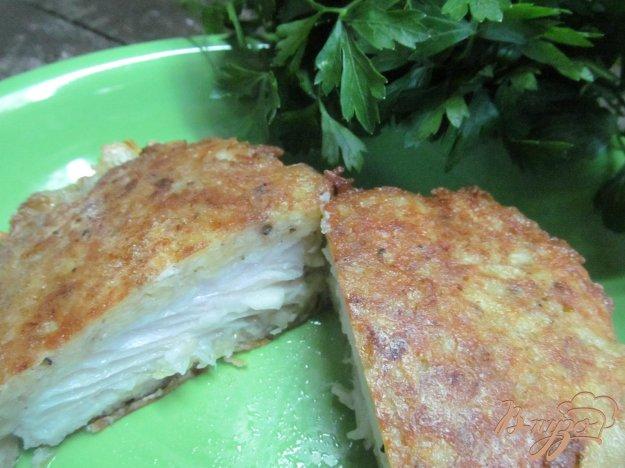 фото рецепта: Тилапия в картофельной шубе