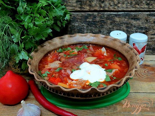 фото рецепта: Украинский борщ с фасолью