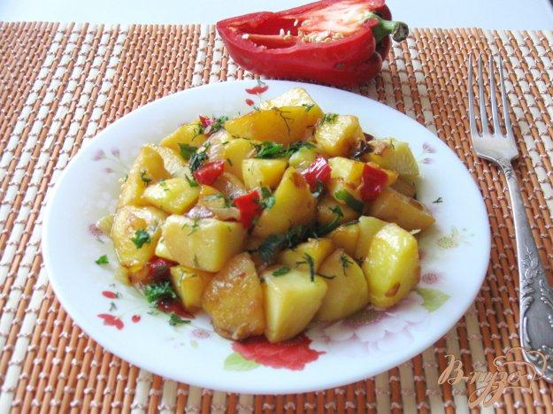 фото рецепта: Картофель обжаренный с овощами