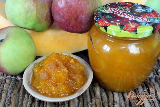 фото рецепта: Начинка для пирога из тыквы и яблок на зиму