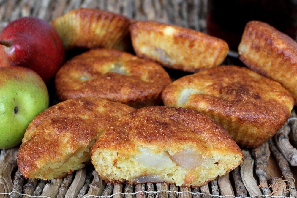 Творожные кексы с грушей рецепт 8