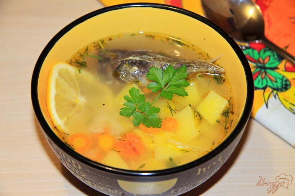 Суп рыбный из головы семги с фото