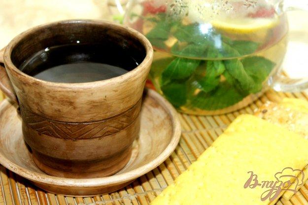 фото рецепта: Мятный чай с малиной и медом