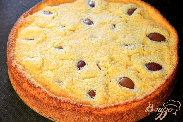 фото рецепта: Творожный пирог со сливами