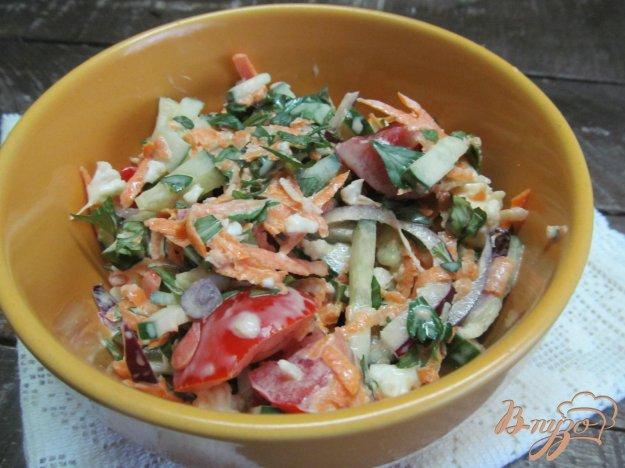фото рецепта: Овощной салат с цветной капустой