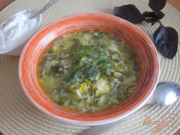 фото рецепта: Зеленый борщ с булгуром