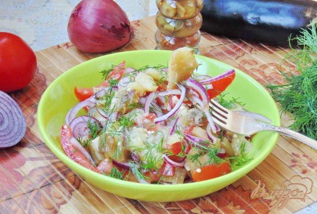 фото рецепта: Салат из баклажанов с помидорами