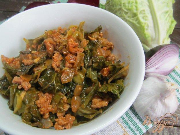 фото рецепта: Солянка из савойской капусты с фаршем