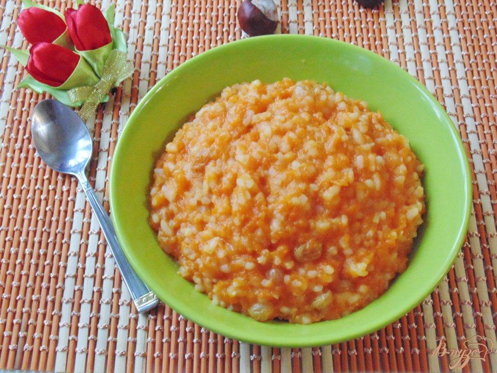 Тыква с рисом и изюмом рецепт с пошагово