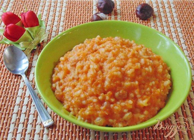 фото рецепта: Тыквенная каша с рисом и изюмом