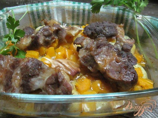 фото рецепта: Свиной ошеек запеченный с овощами