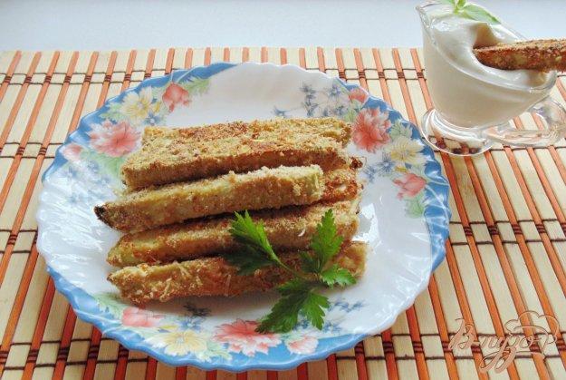 фото рецепта: Кабачки в сырной панировке