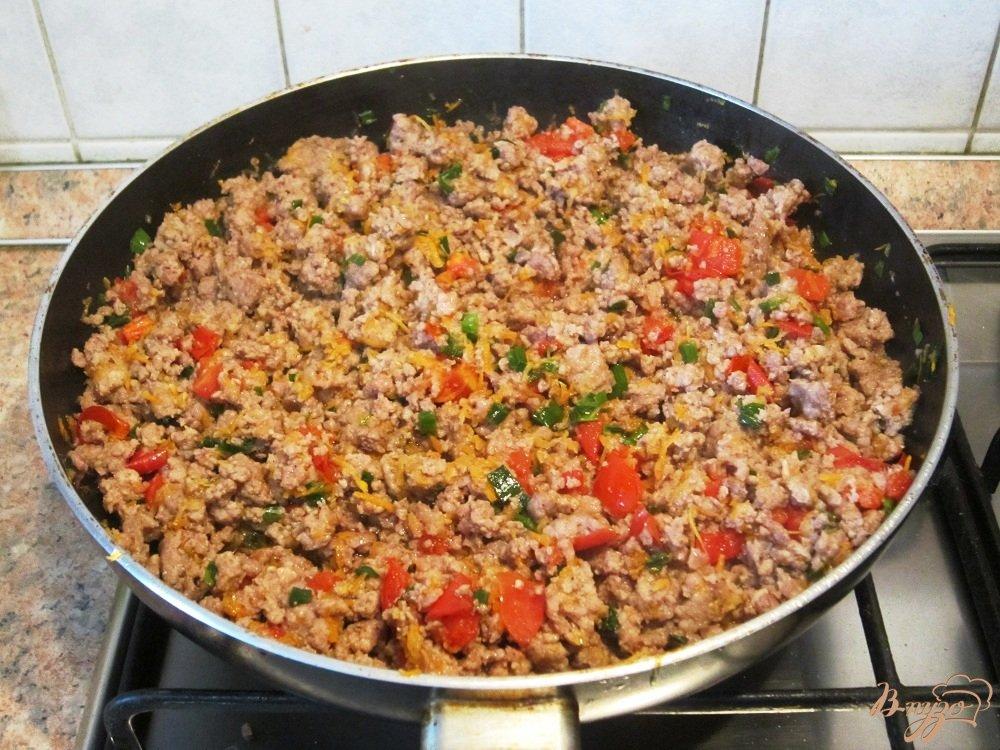 рецепт картошка с фаршем и помидорами в духовке рецепт