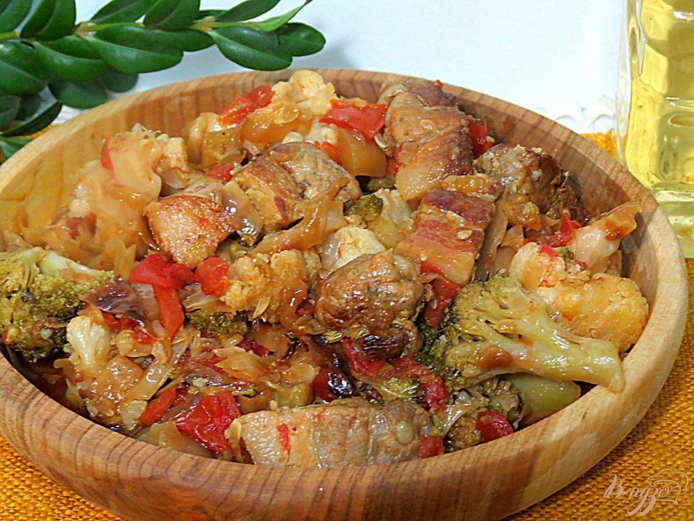 Рагу овощное со свининой пошаговый рецепт с