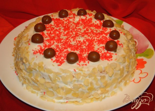 фото рецепта: Миндально-манный торт (без  масла и муки)