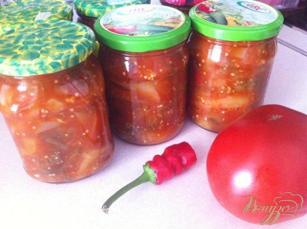 фото рецепта: Баклажаны с перцем в томатном соусе