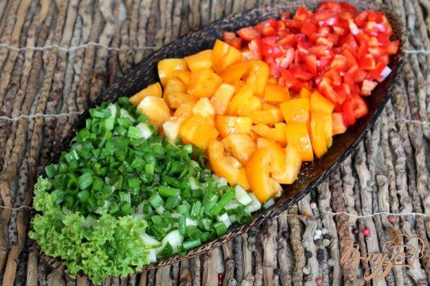 фото рецепта: Овощной салат «Светофор»