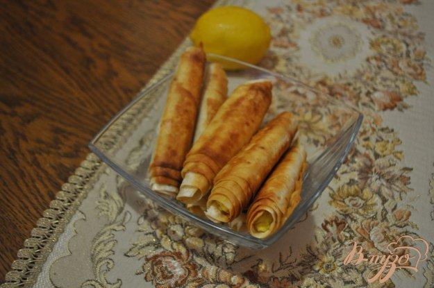 фото рецепта: Сигары с творогом и чесноком