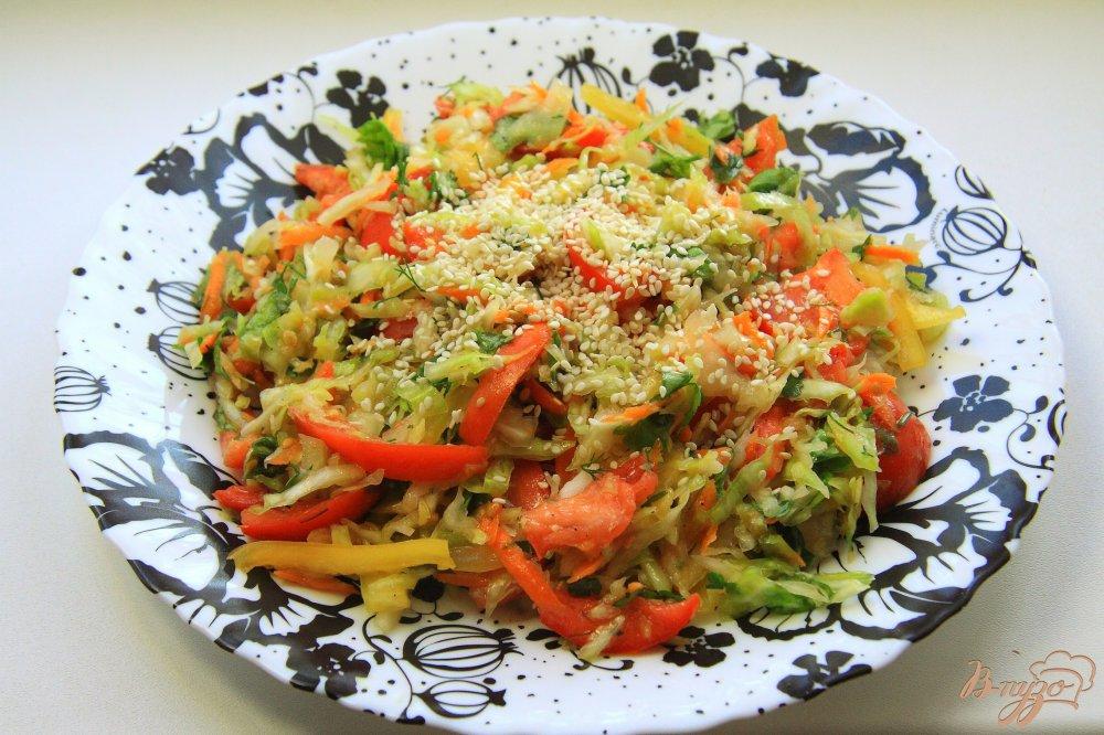рецепт салат из свежей капусты витаминный рецепт