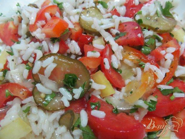 фото рецепта: Салат из риса с овощами
