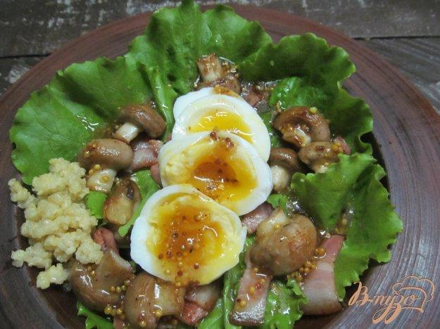 Салат с грибами пошаговый