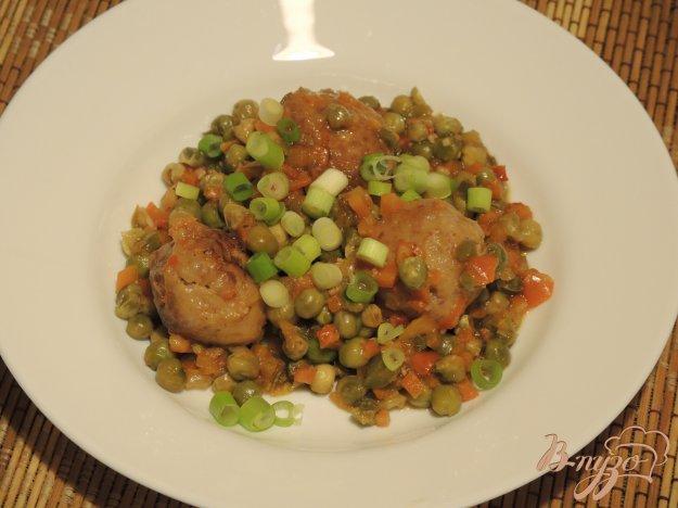 фото рецепта: Овощное рагу с фрикадельками